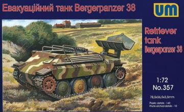 Bergerpanzer 38 (Hetzer) · UM 357 ·  Unimodels · 1:72