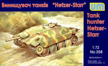 Hetzer-STARR tank hunter · UM 358 ·  Unimodels · 1:72