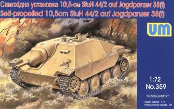 Self-propelled 10,5cm StuH-44/2 auf Jagdpanzer · UM 359 ·  Unimodels · 1:72
