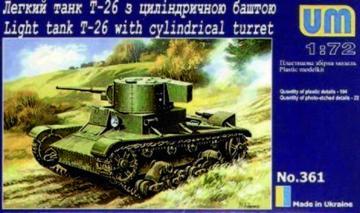 T-26 mit Zylinderturm · UM 361 ·  Unimodels · 1:72