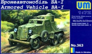 BA-I Armored Vehicle · UM 363 ·  Unimodels · 1:72