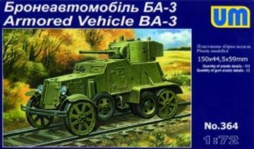 Armored Vehicle BA-3 · UM 364 ·  Unimodels · 1:72