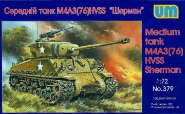 Medium tank M4A3(76)W HVSS · UM 379 ·  Unimodels · 1:72