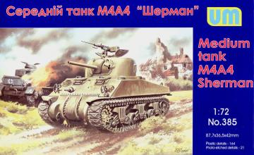 M4A4 Sherman medium Tank · UM 385 ·  Unimodels · 1:72