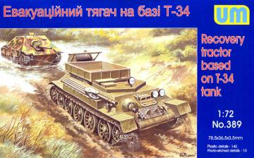 Recovery tractor on T-34 basis · UM 389 ·  Unimodels · 1:72