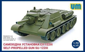 Self-propelled artillery gun SU-122III · UM 392 ·  Unimodels · 1:72