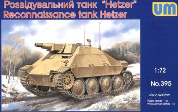 Reconnaissance tank Hetzer · UM 395 ·  Unimodels · 1:72