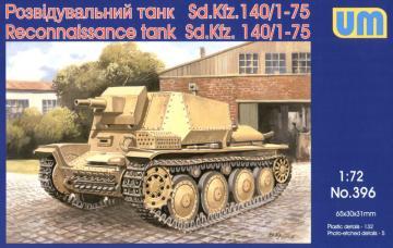 Reconnaissance tank Sd.Kfz 140/1-75 · UM 396 ·  Unimodels · 1:72