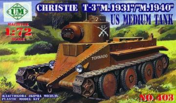 Christie T-3 M.1931/M.1940 · UM 403 ·  Unimodels · 1:72