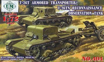 T-26T Armored transporter/T-26TN Reconnaissance observation tank · UM 404 ·  Unimodels · 1:72
