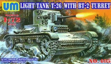 T-26 mit BT-2 Turret · UM 405 ·  Unimodels · 1:72