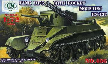 Tank BT-5 with rocket mounting RS-132 · UM 406 ·  Unimodels · 1:72
