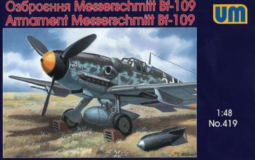 Messerschmitt Bf 109 Armament · UM 419 ·  Unimodels · 1:48