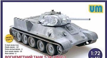 T-34 flame-throwing tank with FOG-1 · UM 441 ·  Unimodels · 1:72