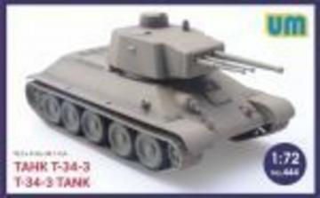 T-34-3 Tank · UM 444 ·  Unimodels · 1:72