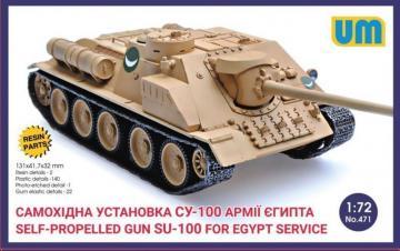 SU-100 Self-propelled gun for Egypt service · UM 471 ·  Unimodels · 1:72