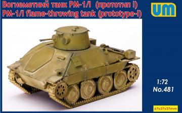 PM-1/I flame-throving tank (prototype - I) · UM 481 ·  Unimodels · 1:72