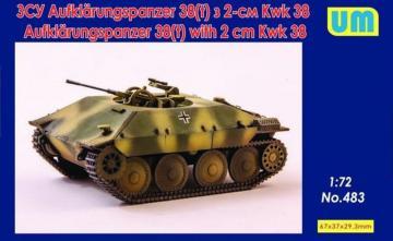 Aufklarungspanzer 38(t) with 2cm Kwk38 · UM 483 ·  Unimodels · 1:72