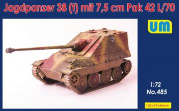 Jagdpanzer 38(t) mit 7.5cm Pak 42 L/70 · UM 485 ·  Unimodels · 1:72