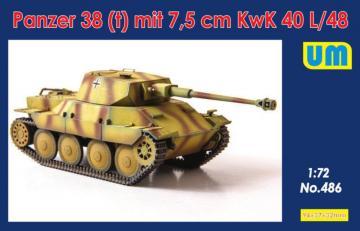Panzer 38(t) mit 7.5cm KwK 40L/48 · UM 486 ·  Unimodels · 1:72