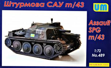Assault self-propelled gun m/43 · UM 489 ·  Unimodels · 1:72