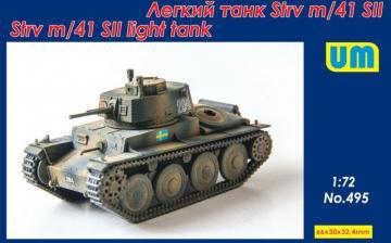 Strv m/41 SII light tank · UM 495 ·  Unimodels · 1:72