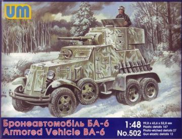 BA-6 Soviet armored vehicle · UM 502 ·  Unimodels · 1:48