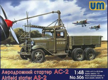 Airfield starter AS-2 on GAZ-AAA · UM 506 ·  Unimodels · 1:48