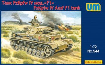 Panzer IV Ausf F1 tank · UM 544 ·  Unimodels · 1:72