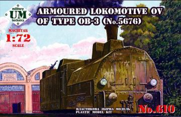 Armored locomotive OV of type OB-3 · UM 610 ·  Unimodels · 1:72