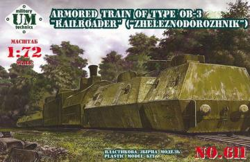 Armored train #2, 23ODBP of type OB-3 · UM 611 ·  Unimodels · 1:72