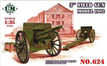 3inch field gun, model 1902 · UM 624 ·  Unimodels · 1:72