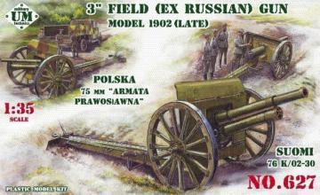 3inch (ex Russian) field gun, 1902(late) · UM 627 ·  Unimodels · 1:35