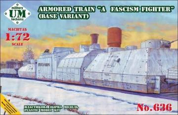 Armored train A Fascism Fighter, base v. · UM 636 ·  Unimodels · 1:72