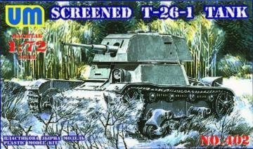 Screened T-26-1 tank · UM T402 ·  Unimodels · 1:72