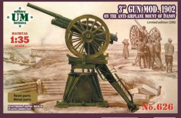 3 inch gun,model 1902/ Limited edition · UM T626 ·  Unimodels · 1:35