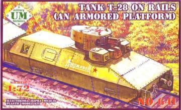 T-28 Tank on rails (armored platform) · UM T641 ·  Unimodels · 1:72