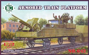 Armored train platform · UM T642 ·  Unimodels · 1:72