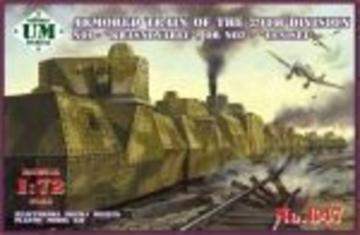 Armored train No1 Krasnoyarec´or No2 Yen · UM T647 ·  Unimodels · 1:72