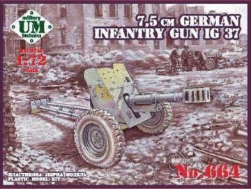 75mm German infantry gun IG 37 · UM T664 ·  Unimodels · 1:72
