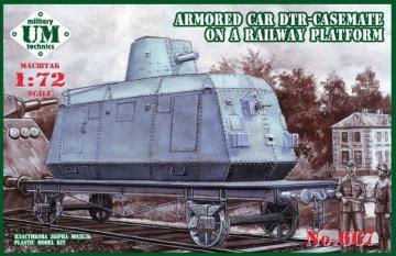 Armored car DTR-casemate on railway plat · UM T667 ·  Unimodels · 1:72