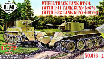 BT-7A Soviet Tank with F-32 gun · UM T67601 ·  Unimodels · 1:72