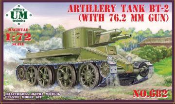BT-2 Artillery tank with 7.62mm gun · UM T682 ·  Unimodels · 1:72