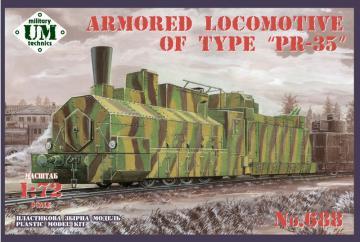Armored locomotive of type PR-35 · UM T688 ·  Unimodels · 1:72