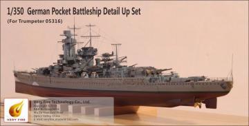 German Pocket Battleship Admiral Graf Spee - Detail Up Set [Trumpeter] · VF 350001 ·  Very Fire · 1:350