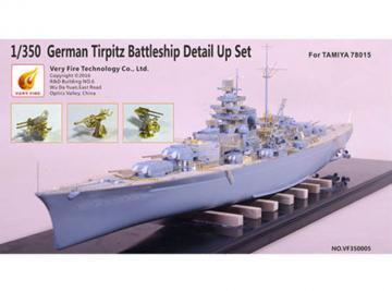 German Tripitz Battleship Detail Up Set [Tamiya] · VF 350005 ·  Very Fire · 1:350