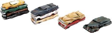 Gepresste Schrott-Autos, Fertigmodell · WAL 3001 ·  Walthers · H0