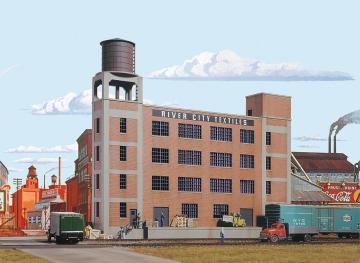 Textilfabrik, Hintergrundgebäude · WAL 3178 ·  Walthers · H0