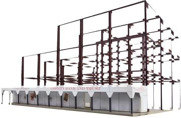 Wolkenkratzer Baustelle · WAL 3761 ·  Walthers · H0