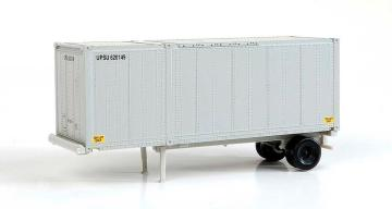 28-Fuß Container mit Chassis,2 Stück · WAL 8600 ·  Walthers · H0